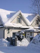 канадский дом зимой