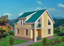 Проект каркасного дома 13