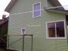Задняя сторона каркасного дома