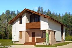 Проект каркасного дома 01