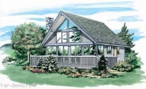 Проект каркасного дома 11