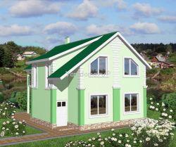Проект каркасного дома 14