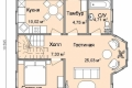 Проект каркасного дома 34-1