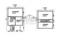 Планировка дачного дома 6 на 7 м.